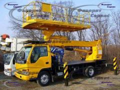 Aerial platforms from 10 to 34 meters! Platform 2x4 meters! Tomsk