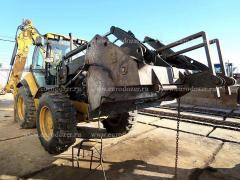 Backhoe loader CAT 444, 2006, pitchfork