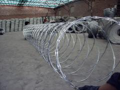 Barbed wire with tape