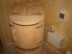 Кедровая бочка овальная со скосом из алтайского кедра