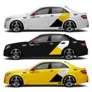Магнитные наклейки Яндекс Такси