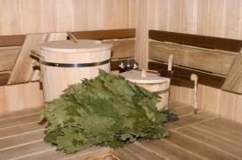 Russian sauna on the wood