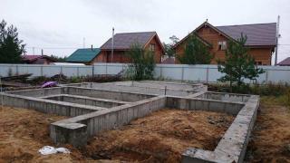 Строительство ленточного фундамента