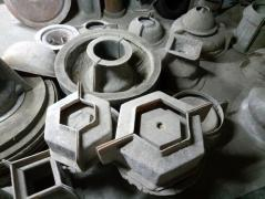 The set of German forms rubber for concrete products
